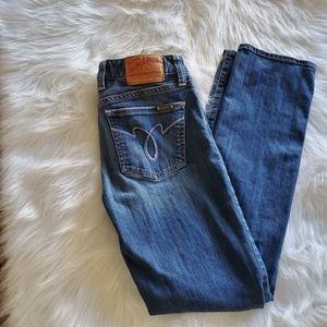 Lucky Brand Lola Straight Run Stitch Jeans Size 27